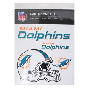 NFL Miami Dolphins Car 9 decal Kit- Vinyl Sticker